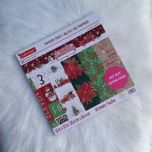New! Holiday Say Freeze Paper Pad by Craft Smart